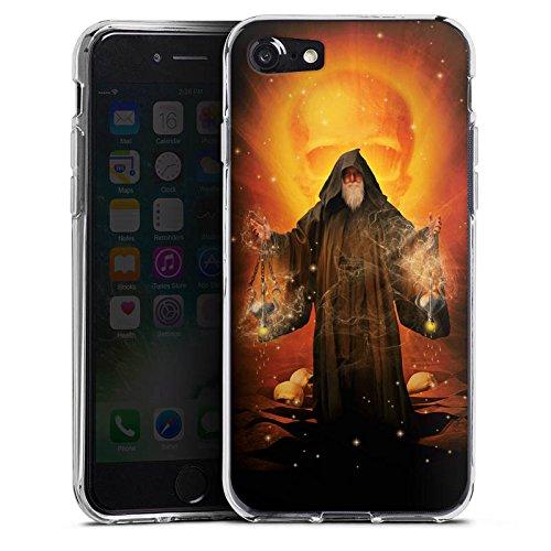 Apple iPhone X Silikon Hülle Case Schutzhülle Zauberer Magie Mystik Silikon Case transparent