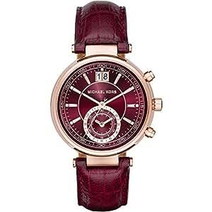 Micheal Kors - MK2426 - Montre Femme - Quartz - Chronographe - Bracelet cuir Marron