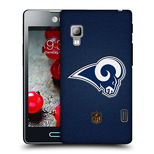 Offizielle NFL Fussball Los Angeles Rams Logo Ruckseite Hülle für LG Optimus...