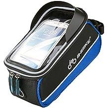 "Inbike Bolsa Bicicleta, Bolsa Mtb Cuadro Impermeable con la Pantalla Táctil para Móvil(Azul,5.7"")"