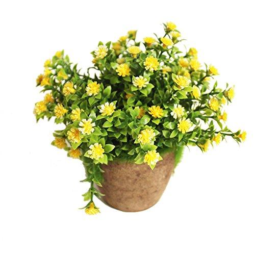 Godagoda Kunstblumen im Topf Kunststoff Künstliche Gefälschte Kliene Blumen Möbel Hause Büro oder Draussen Deko
