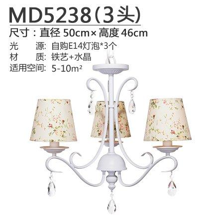 BESPD Kristall Garten Lampe koreanischen Restaurants Schlafzimmer Wohnzimmer Kinderzimmer Bügeleisen Lampen, 5238-3+5 W Weiße LED, Weiß (3-tier-kristall-kronleuchter)
