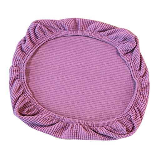 FLAMEER Fundas de Silla Cubierta de Asiento Protectora Elásticas Extraíble Lavable Cubre Silla para Comedor - Púrpura