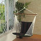 #8: Oak N Oak Comfortable & Relaxing Indoor & Outdoor Hanging Chair Furniture - Tropical Palm Stripe