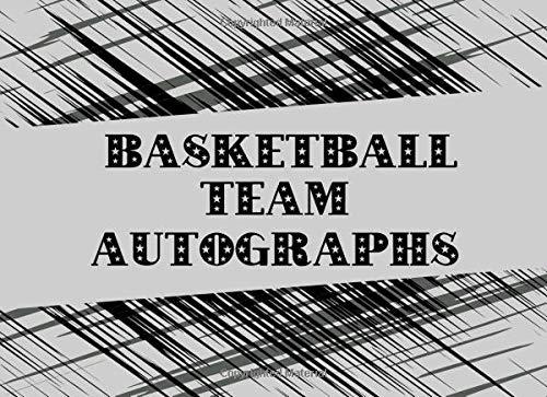 Basketball Team Autographs: Blank Unlined Memory Book por Sportslo Notebooks