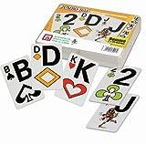06519910601 - Nürnberger Spielkarten - Doppelrommé im Klarsichtetui, Jumbo Bild - angelehnt an französisches Bild