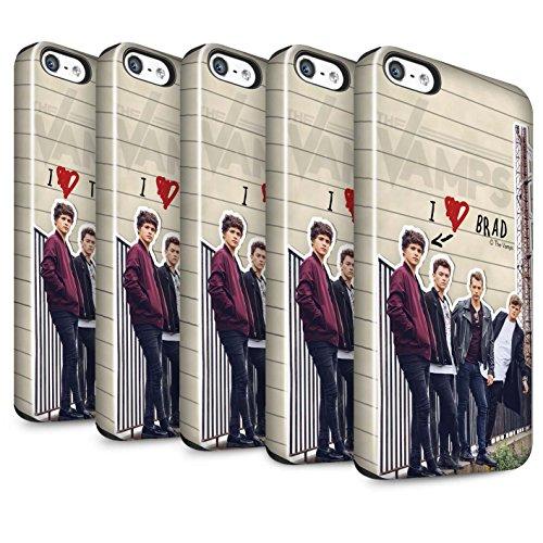 Officiel The Vamps Coque / Brillant Robuste Antichoc Etui pour Apple iPhone 5/5S / Pack 5pcs Design / The Vamps Journal Secret Collection Pack 5pcs