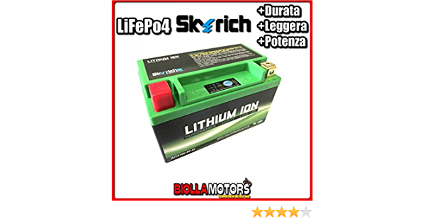 Hjtx14h Fp Lithium Ion Skyrich Ytx14 Lifepo4 612276 Ytx14bs Motorcycle Scooter Quad Cross Auto