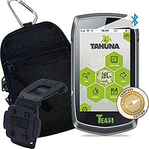 TEASI ONE 3 eXtend - Fahrrad- & Wandernavigation + Tasche