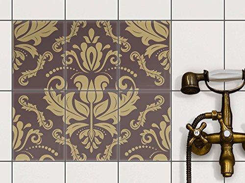 Küche Bad Fliesenaufkleber Folie Sticker | Badfolie Badfliesen Kühlschranksticker Küchendeko | 15x20 cm Design Motiv Retro Revival - 6 Stück