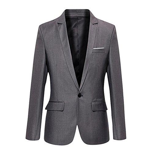 VOBAGA Herren nehmen passender beiläufiger ein Knopf stilvoller Anzug Jacken Mantel Blazer ab Geschäft Anzugjacken (3-knopf-blazer-jacke)
