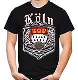 Für Immer Köln Männer und Herren T-Shirt | Sport Fussball Stadt Fan (L, Schwarz Druck: Bunt)