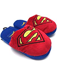 DC comics superman logo 3D plush chaussons