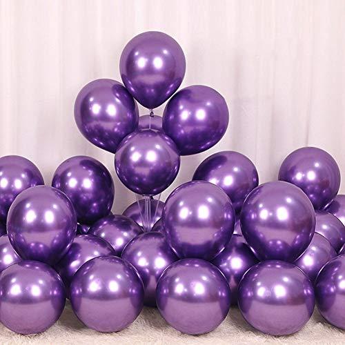 Poseca 12 Zoll 50 Stücke Latex Metallic Ballons Shiny Verdicken Ballon für Hochzeit Geburtstag Baby Shower Abschlussfeier Liefert
