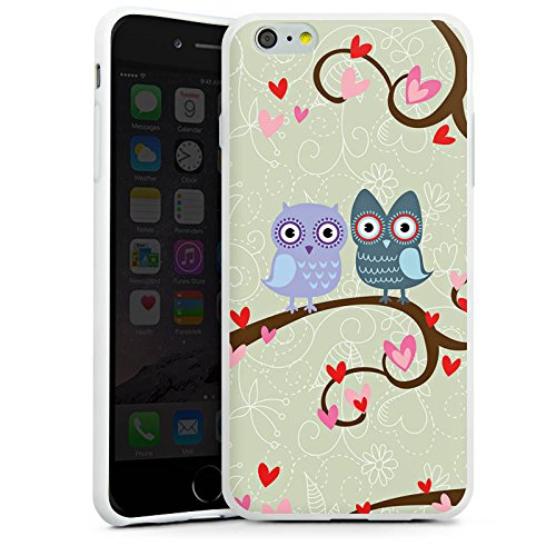 Apple iPhone X Silikon Hülle Case Schutzhülle Eulen Muster Dating Owls Silikon Case weiß