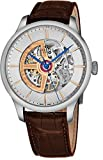 Perrelet Men's 42mm Alligator Leather Band Steel Case Automatic Watch A3052-1