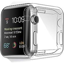 Apple Watch Funda 42mm, Toeoe Suave TPU Proteger Completa Case Anti-Arañazos Borrar Espalda para Apple Watch 42mm