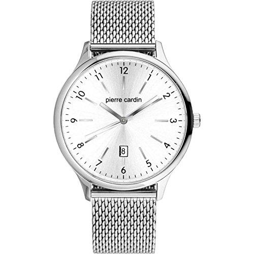Pierre Cardin pour homme les Halles 45mm Bracelet de montre à quartz en acier Pc902131F05