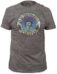 Grateful Dead - - Le crâne et les roses pour hommes T-shirt affligé Tri-Blend équipée