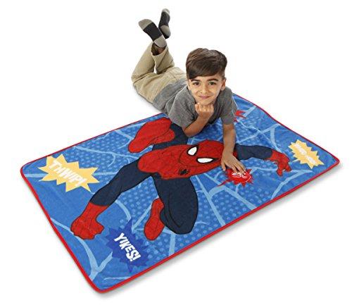 Marvel Spiderman Go Spidey Toddler Blanket with Sound, Red by Marvel