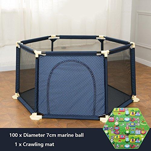 Im Freien großes Baby-Mädchen-Spiel-Yard mit Ball-Auflage-vielseitiger justierbarer waschbarer Kinderkleinkind-Sicherheits-Laufstall-Platte 6 (Farbe : - Baby-mädchen-spiel-yard