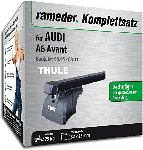 Rameder Komplettsatz, Dachträger SquareBar für Audi A6 Avant (115984-05381-1)