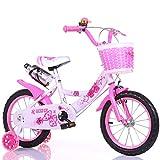 XSSD002 Einfach Und Einfach, Fahrrad/Jungen- Und Mädchenfahrrad, Sicheres Persönliches Fahrrad Der Kindheit, 2-9-Jähriges Babyzusatzradfahrrad Zu Tragen,Rosa,121 cm