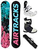 Airtracks Damen Snowboard Set - Board Polygonal 148 - Softbindung Master W - Softboots Star Black 42 - SB Bag