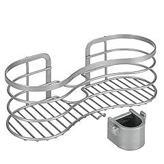 Idea Regalo - Metaltex Cestello portasapone da doccia, fissaggio senza fori, colore: Argento (Edelstahloptik)