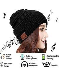 Mystery Gorro Bluetooth, Sombrero Musica con Auriculares inalámbricos, Micrófono, Gorra Music de Punto