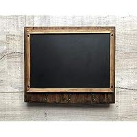Wall mounted key hook with chalk board