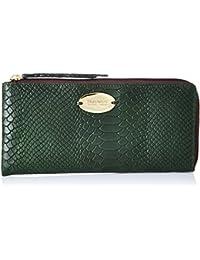 Hidesign Women's Wallet (Emerald Brown Zip)