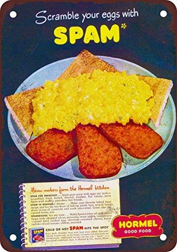 hormel-huevos-y-spam-aspecto-vintage-reproduccion-metal-tin-sign-8-x-12-pulgadas