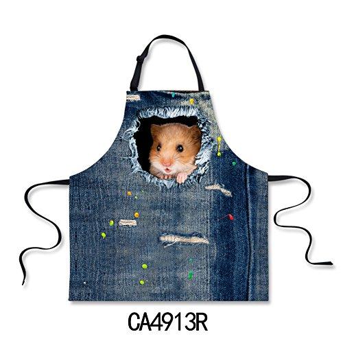 Nopersonality Schürze für Hunde und Katzen, Jeansstoff, mit verstellbarem Hals, Baumwolle, Hamster, (Mama Tochter Katze Kostüme)