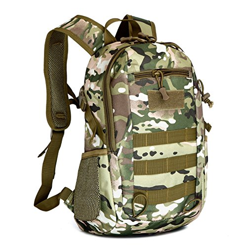 Esercito Outdoor fan piccolo zaino maschio e femmina alpinismo camouflage Borsa Zaino spalla 16 litri 37*24*13cm, Jungle Digital Deserto Digital