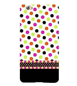 For Gionee S6 polka pattern ( polka pattern, polka, stripes, black, circle, black background ) Printed Designer Back Case Cover By FashionCops