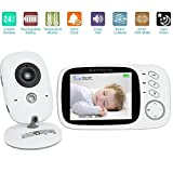 2016 NEWEST 3.2 Inch Wireless Digital Baby Monitor, Sourcingbay LCD Audio Video Security Baby Monitor with Night Vision, 2 Way Talk, Alarm Sensor, Temperature Monitoring Built-in Lullabies