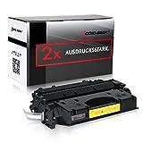 2 Logic-Seek Toner kompatibel zu HP CE505X 05X Laserjet P 2053 2054 2055 2056 2057 D DN X