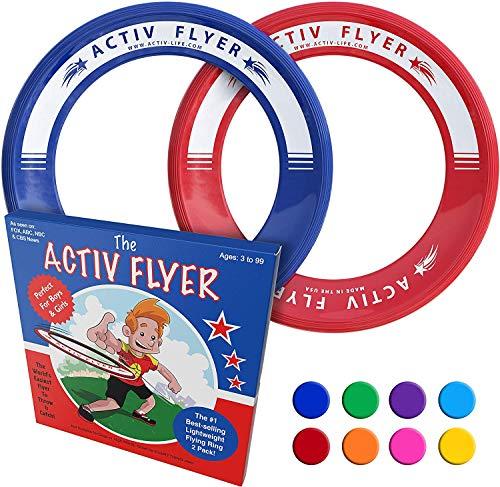 Activ Life Best Kids Wurfringe, Frisbee [Rot   / Blau] Top Geburtstagsgeschenke - Cooles Spielzeug für Jungs und Mädchen, Spiel & Spaß für die ganze Familie im Freien - Geburtstag Weihnachten