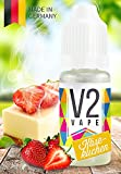 V2 Vape E-Liquid Käsekuchen | Cheesecake - Luxury Liquid für E-Zigarette und E-Shisha Made in Germany aus natürlichen Zutaten 10ml 0mg nikotinfrei