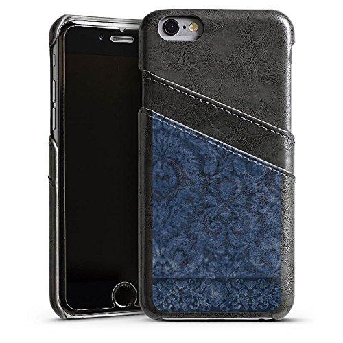 Apple iPhone 4 Housse Étui Silicone Coque Protection Ornements Motif Motif Étui en cuir gris