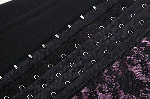 TDOLAH sexy korsage Lace Spitze unterbrust korsett elastisch Girdle voller Stahl mit Knochen Dessous XS-6XL rosa-2
