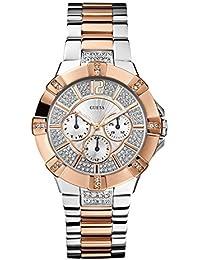 Guess W0024L1 - Reloj analógico de cuarzo para mujer con correa de acero inoxidable, ...