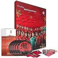 FC Bayern München XXL Adventskalender gefüllt mit Autogrammkarten und 25 mal Vollmilch-Schokoladen Täfelchen