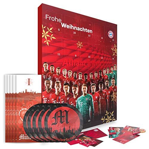 FC Bayern München Adventskalender XXL mit Autogrammkarten der FCB Stars 2019