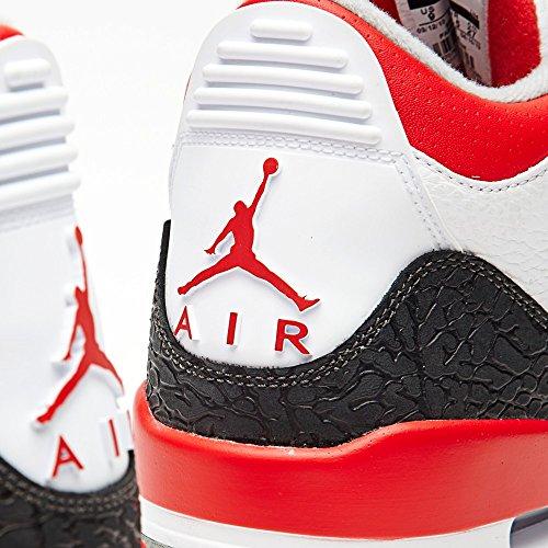 Nike , Chaussures de ville à lacets pour homme white/fire red-silver-black