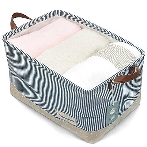 Organisieren Körbe für Kleidung Lagerung - Lagerung Körbe aus umweltfreundlichen Baumwolle. Arbeitet als Stoff Schublade, Babyraum, Spielzeug-Speicher. Hohe Qualität Kinderzimmer Körbe passen auf die meisten Regale,