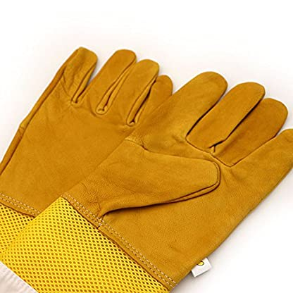 New Extra Large Beekeeping Gloves made with goatskin and thick vented cotton sleeves Bee Hive Farm Equipment 3