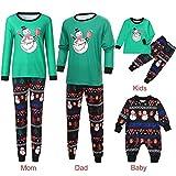 Riou Weihnachten Set Kinder Baby Kleidung Pullover Familie Pyjamas Nachtwäsche Outfits Set Schlafanzug PJS Homewear für Eltern Jungen Mädchen Spielanzug Eltern Kindabnutzung Set (XL, Mom)