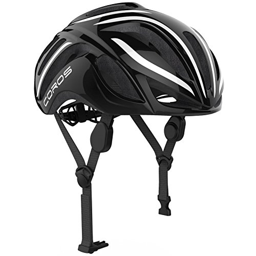 Coros LINX Smart Cycling Helmet Fahrradhelm schwarz Größe L mit mit integriertem Bone Conductive Kopfhörer